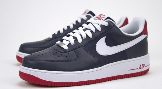 new concept 9a505 44b9f Color Me This  Nike Air Force 1 Obsidian White-Sport Red ...