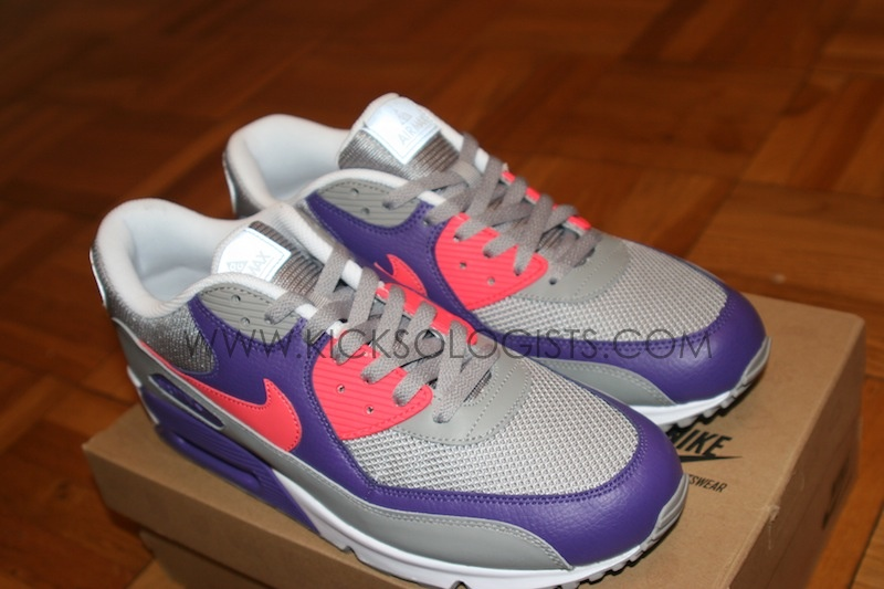 timeless design b7ef6 b27e8 Nike Air Max 90  ACG Pack  Medium Grey Alarming Red-Varsity Purple