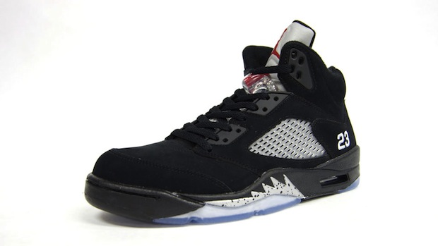 Air Jordan 5 Black/Mettalic Silver