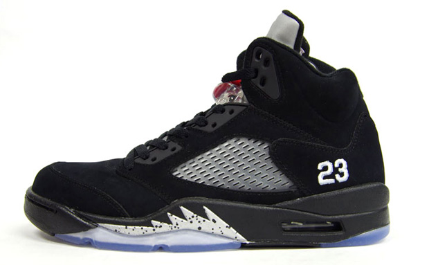 Air Jordan 5 Black/Metallic Silver
