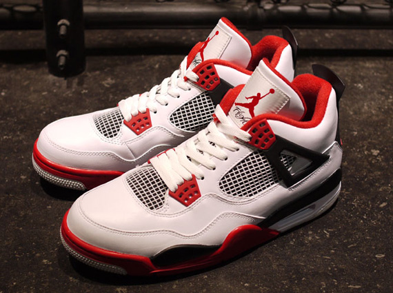 """cheap for discount 97fc9 5145e The Air Jordan Retro IV """"White – Varsity Red – Black"""" drops 08 04 2012 for   160.00 USD. As always ..."""