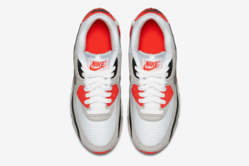 nike air max 90 infrared 2015 top view