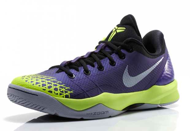 the latest 4d197 8ddc9 Nike Zoom Kobe 4 Venomenom Purple Wolf Grey Volt 3