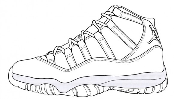 free lebron james sneakers coloring pages