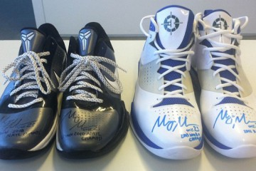 Maya Moore Game Worn Kobe and Jordan Fly Wade. Front