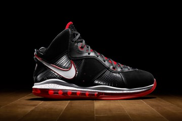 Nike LeBron 8 Black - Red - White