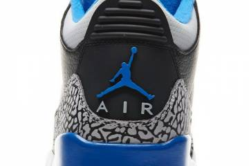 Air Jordan III 3 Sport Blue Heel
