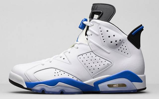 air jordans 6s blue and white