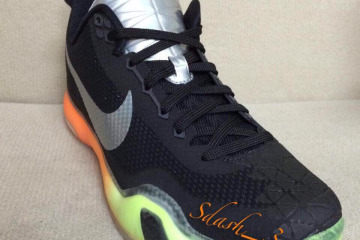 All-Star Kobe 10 Black Orange Volt Front Angle B