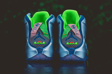 Nike LeBron 12 Trillion Dollar Man Heel Pair Rear
