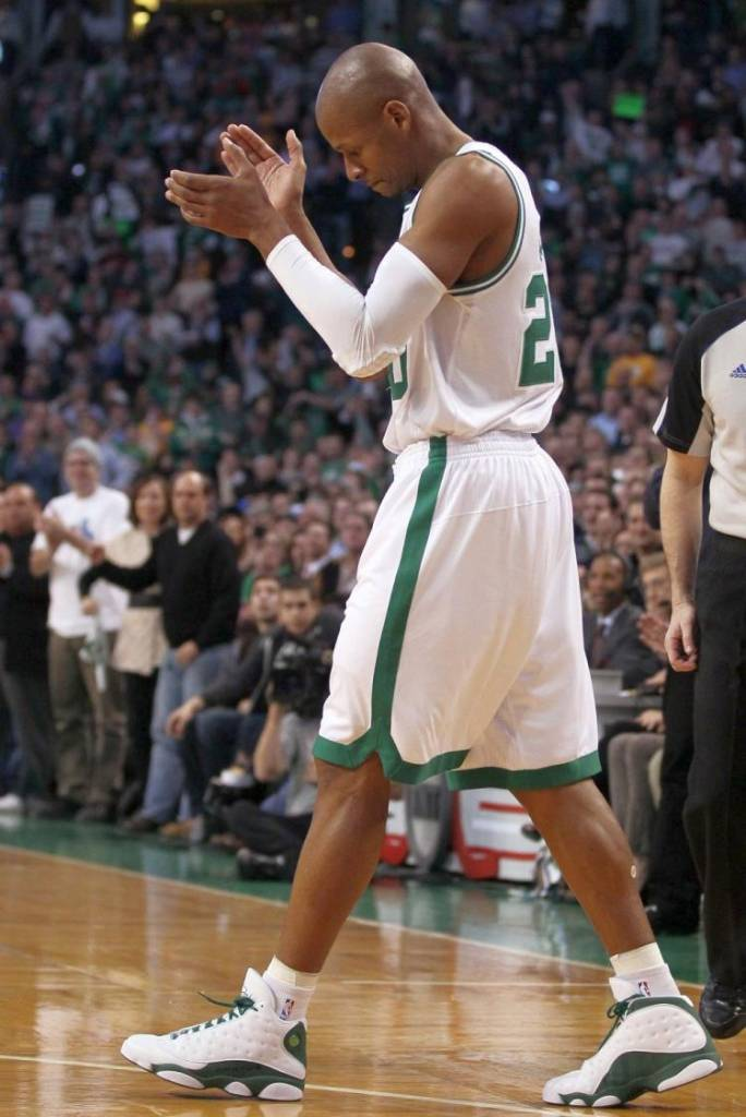 35101423b32f39 He accomplished the feat as member of the Boston Celtics and donned the Sugar  Ray 13 PEs.