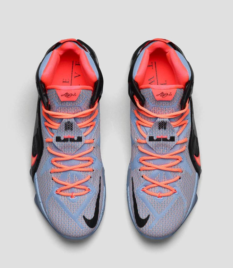 official photos d3f7e e3900 LeBron 12. 684593-488. Aluminum Hot Lava Black Sunset Glow
