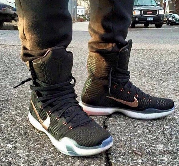"""reputable site bb5be 52c5b The Nike Kobe X """"Rose Gold"""" releases June 5th, 2015 for  225.00 USD. Here  are some on foot images from  Snkr base."""