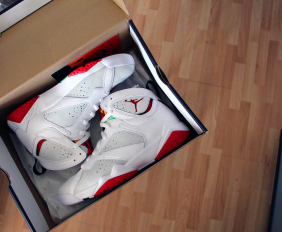 air jordan 7 hare box