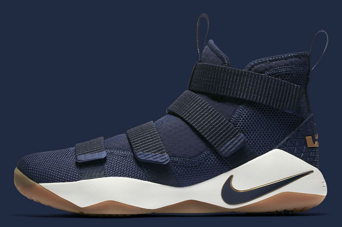 5ccfb0112107 Nike LeBron Soldier 11 Cavs Navy