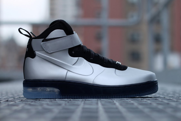 Nike Air Force 1 High Foamposite Silver