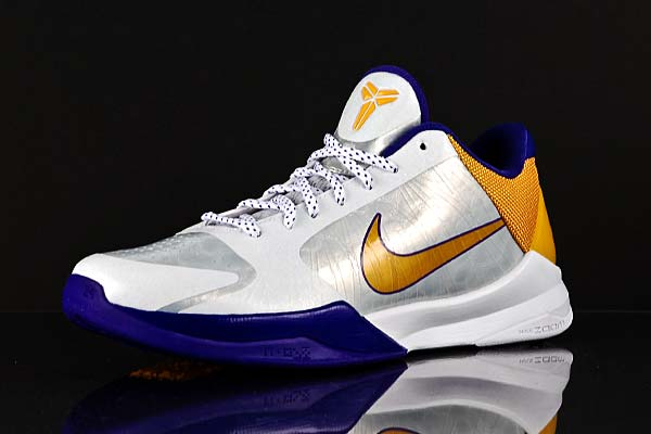 Nike Zoom Kobe 5 White - Del Sol - Purple