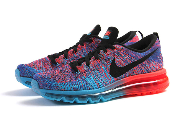 Nike Flyknit Max Blue Lagoon:Black-Bright Crimson