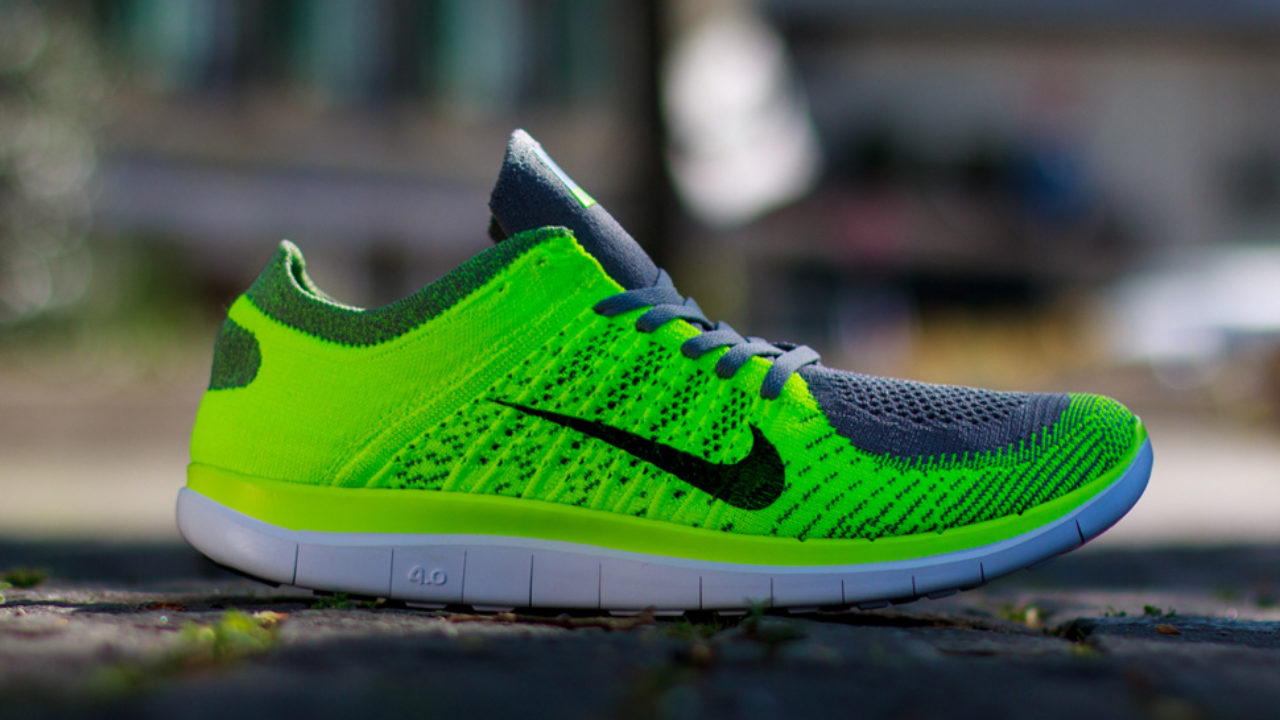 new product d2c87 0e725 Nike Free 4.0 Flyknit Electric Green/Grey $90 | Sneaker Deal ...