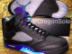 Air Jordan V Black Grape Sample