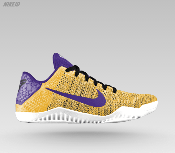 sports shoes f9605 c80c3 Nike Kobe XI Lakers Home Gold