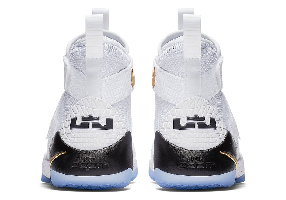 pretty nice 8b89d 6e1f3 Nike LeBron Soldier 11 White Gold Release - Kicksologists.com