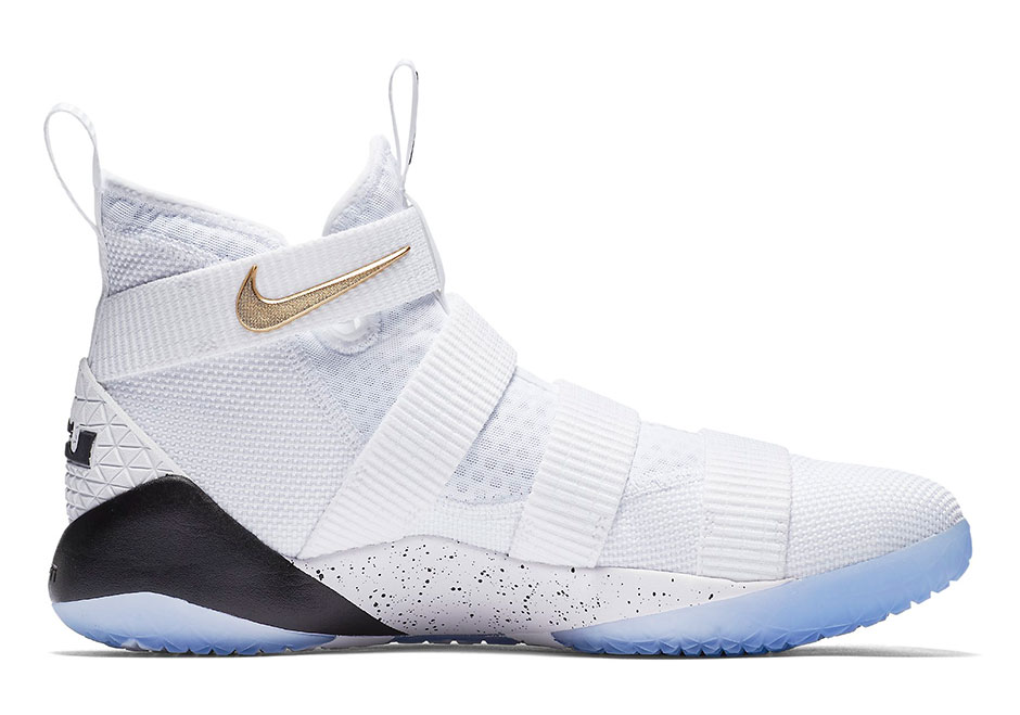 pretty nice ad7a2 16394 Nike LeBron Soldier 11 White Gold Release - Kicksologists.com