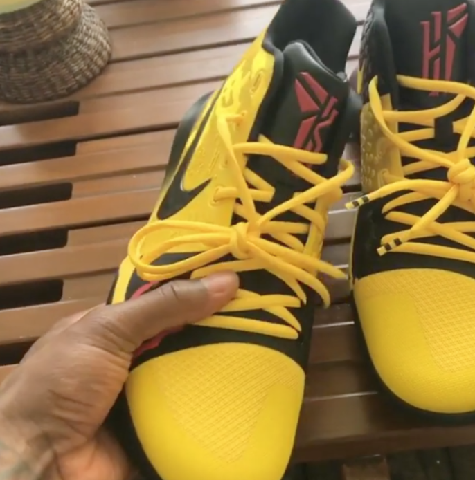 super popular 4eea8 d7c3f Kyrie Irving Unveils 'Bruce Lee' Inspired Kyrie 3 Sneakers ...